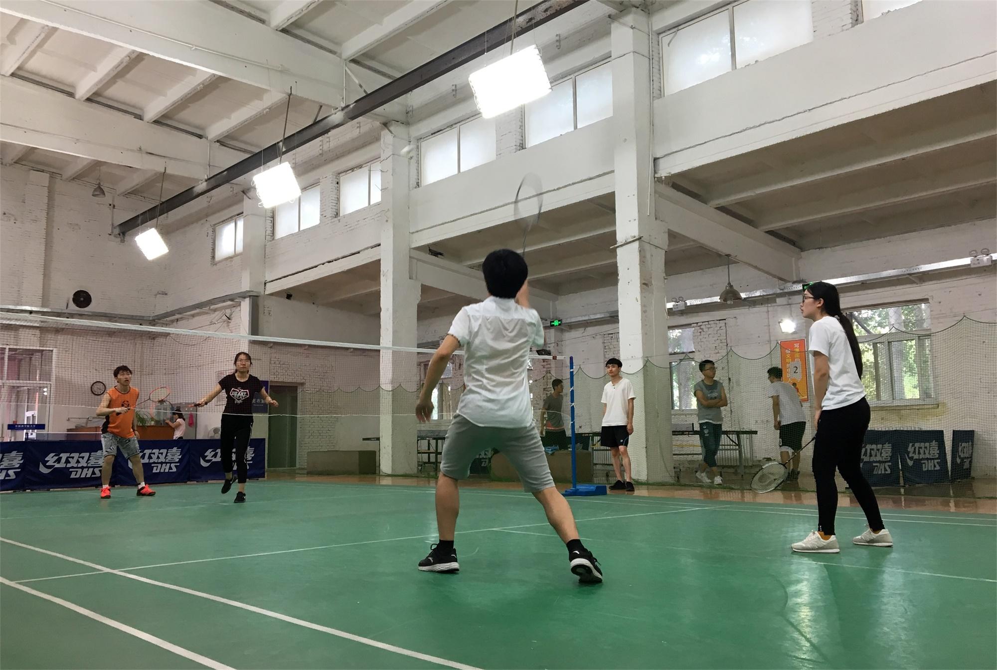 羽毛球冠军争夺赛